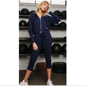 Free People Game Play Joggers High Rise Navy Blue